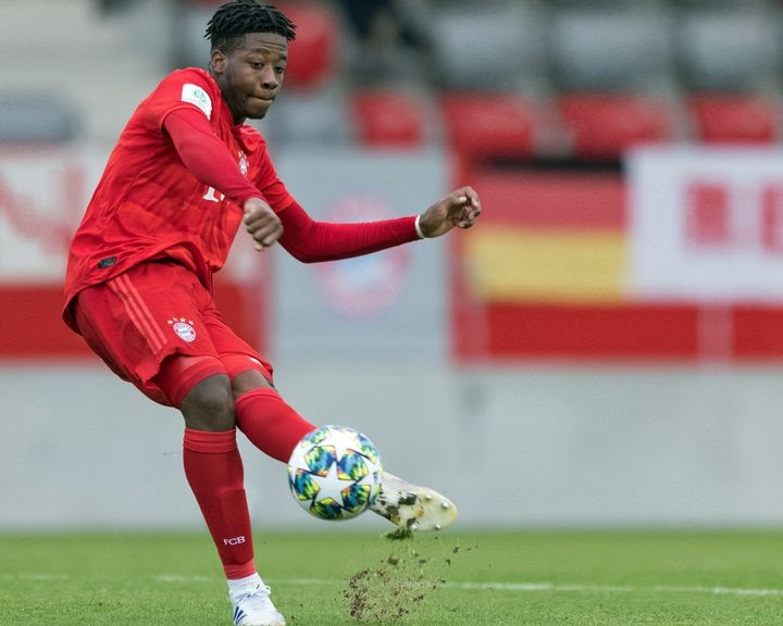 Bright Arrey-Mbi has been playing for Bayern Munich's reserve team this season despite being only 16.